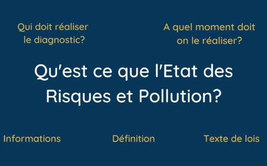Etat des Risques et Pollution ERP