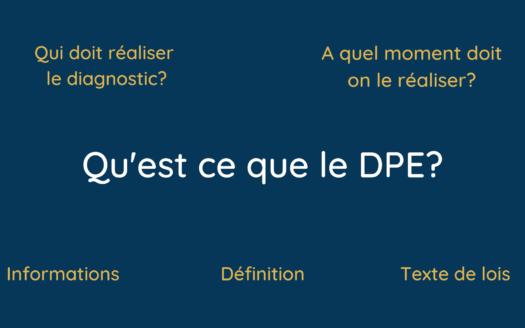 Qu'est ce que le diagnostic DPE, le diagnostic de performance énergétique