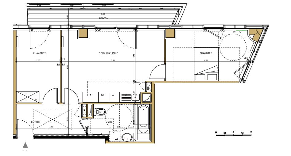Appartement NEUF T3 Bordeaux Euratlantique
