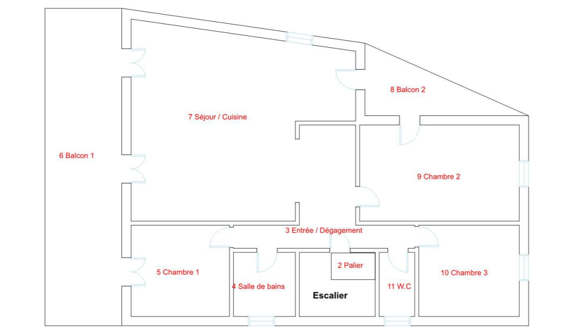 Plan appartement Bègles