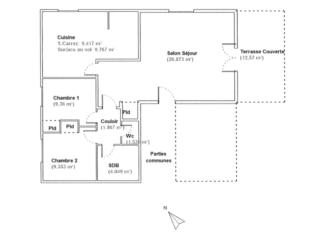 Appartement T3 à Lormont