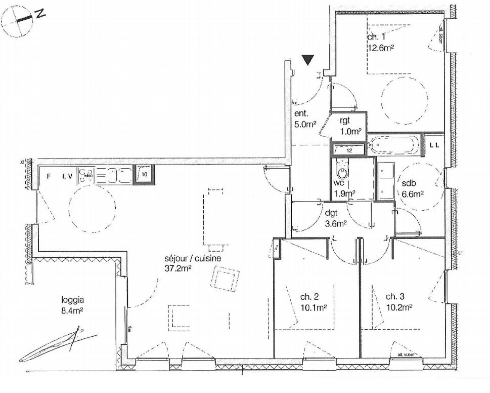 Appartement T4 à vendre à Talence