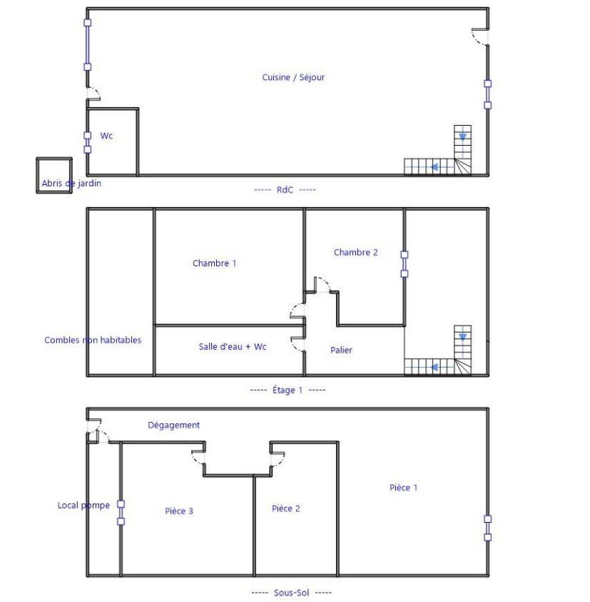 Plan Maison à vendre à Bordeaux Bastide