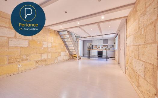 Séjour 2 - Appartement T3 duplex à vendre Bordeaux Chartrons