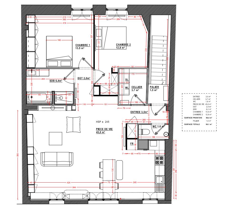 Appartement T3 à vendre Bordeaux Cœur Chartrons