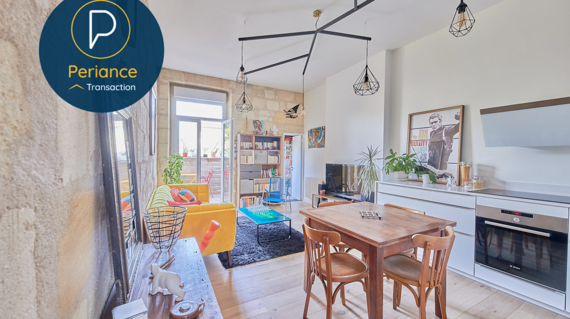 Séjour - Appartement T3 à vendre à Bordeaux