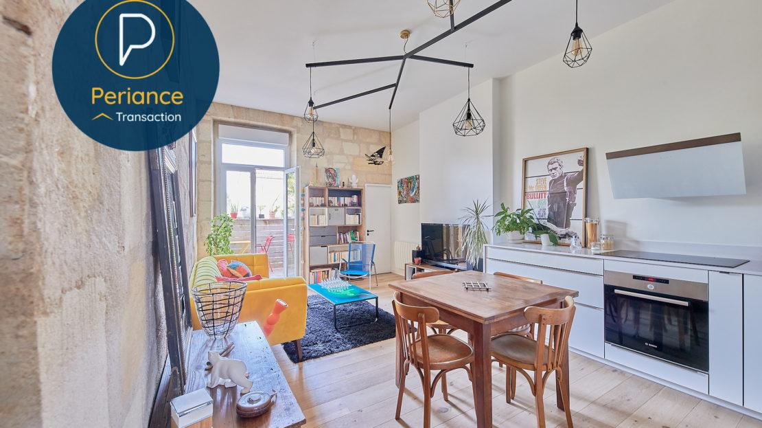 séjour 2 - Appartement T3 à vendre à Bordeaux