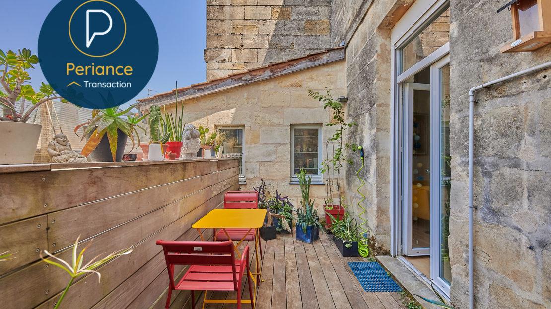 terrasse - Appartement T3 à vendre à Bordeaux