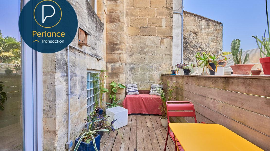 terrasse 2 - Appartement T3 à vendre à Bordeaux