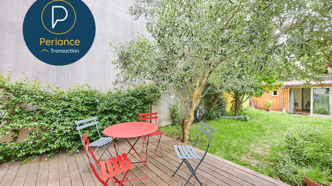 TERRASSE 2 - Maison avec jardin à vendre Bordeaux Bacalan