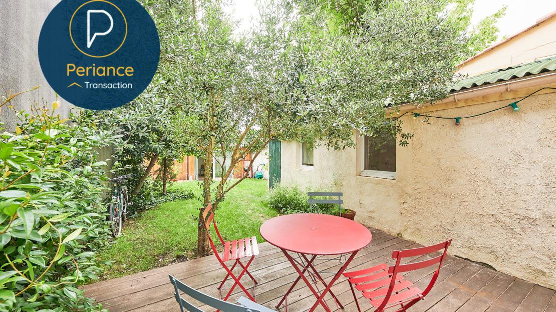 TERRASSE - Maison avec jardin à vendre Bordeaux Bacalan