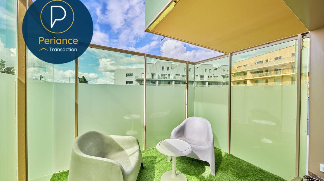 balcon - Appartement T3 à vendre à Bordeaux Bassin à Flot